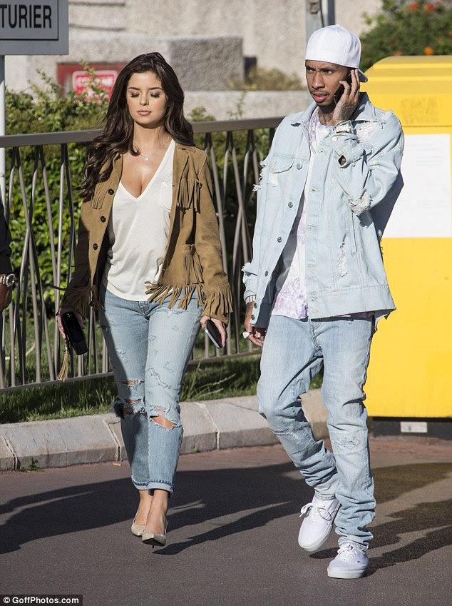 Antiga paixão: A estrela virar a cabeça saltou para a fama neste verão depois de ser fotografado com o rapper Tyga em diversas ocasiões, inclusive durante uma viagem para o Festival de Cinema de Cannes