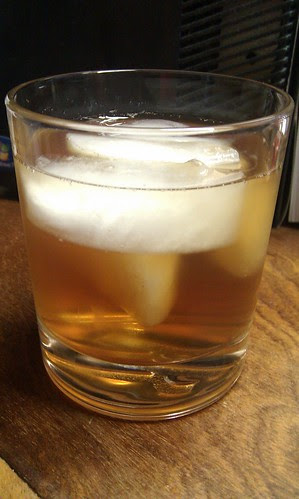 Drinking iced tea out of a whiskey tumbler. Makes the day seem more interesting.