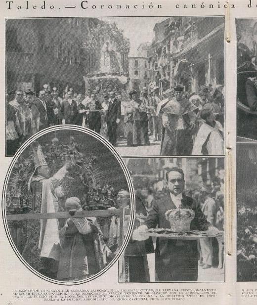 Coronación de la Virgen del Sagrario el 30 de mayo de 1926. Revista la Ilustración Católica