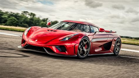 wallpaper koenigsegg red supercar front view  uhd