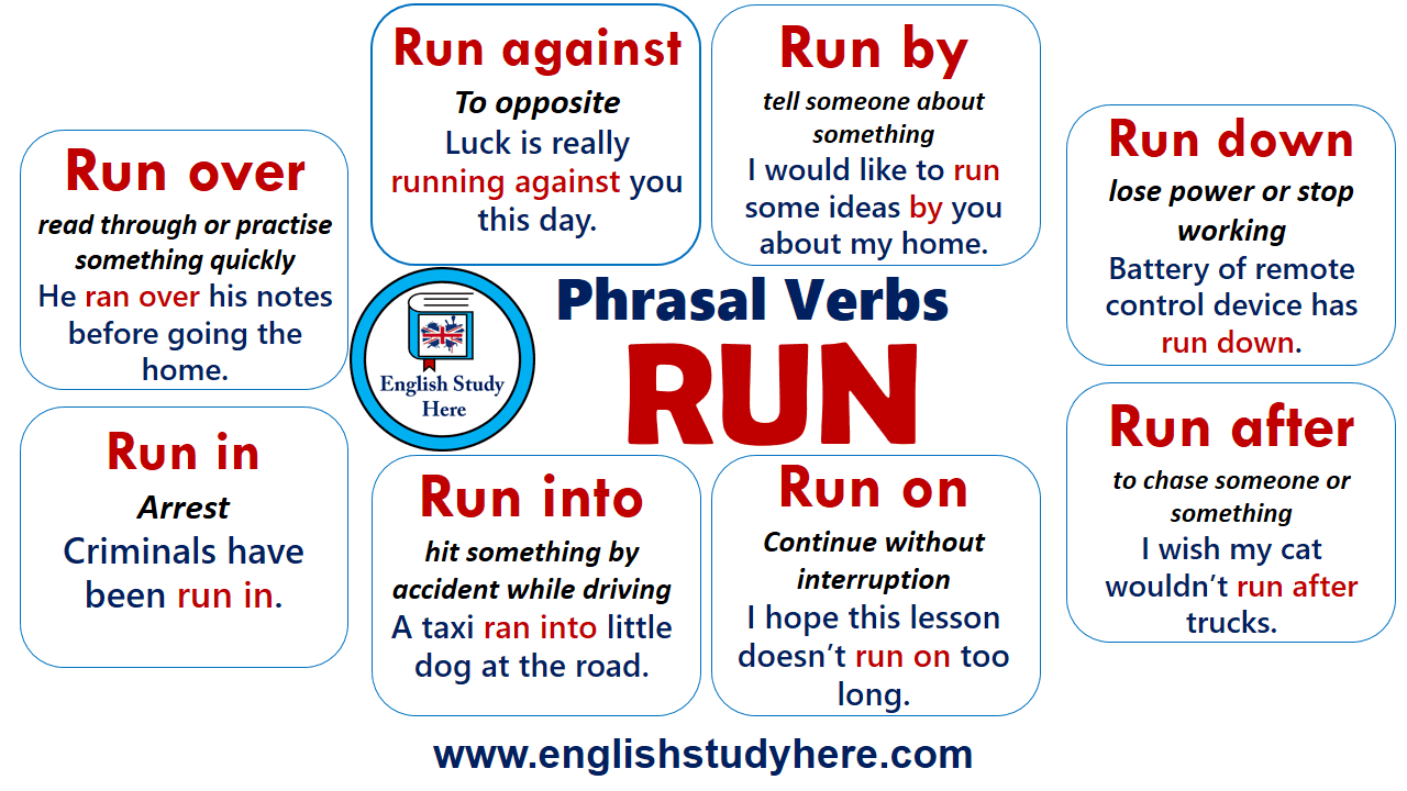 Run Into Phrasal Verb Meaning - camping distractiv