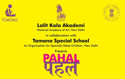 Pahal art activities training specially abled children Tamana Special School Creative