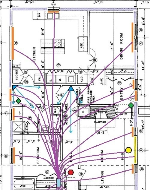 Home Security System Wiring Diagram
