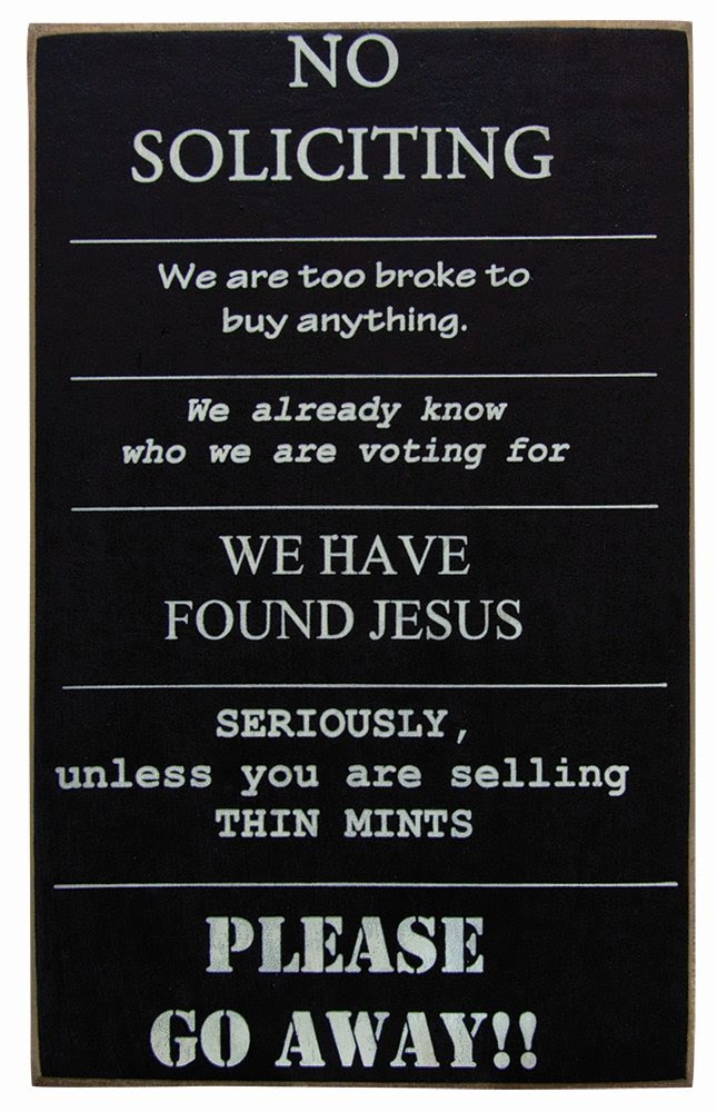 Amazon.com - Collins No Soliciting Sign - Decorative Signs