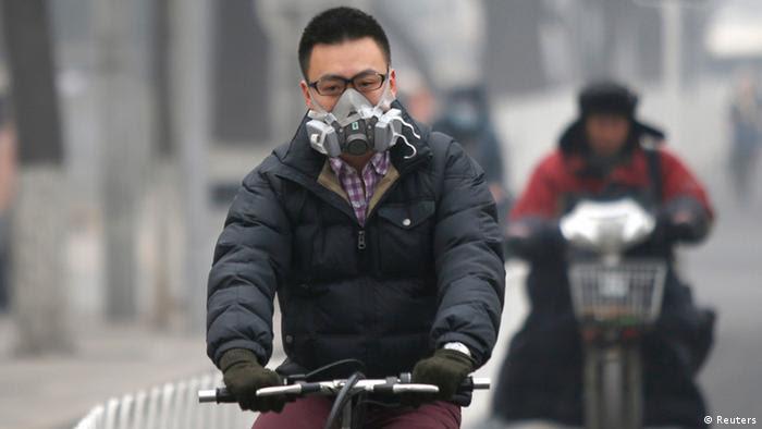 Smog in Peking China 24.02.2014