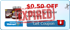 $0.50 off HERSHEY'S Spreads or Snacksters