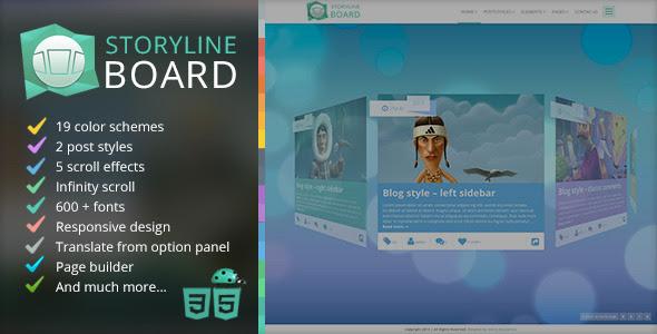 Storyline Board WordPress Theme - Creative WordPress