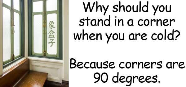 corner 牆角 90度