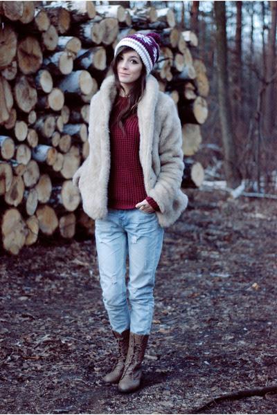 Beige-fur-h-m-coat-sky-blue-jeans-romwe-pants