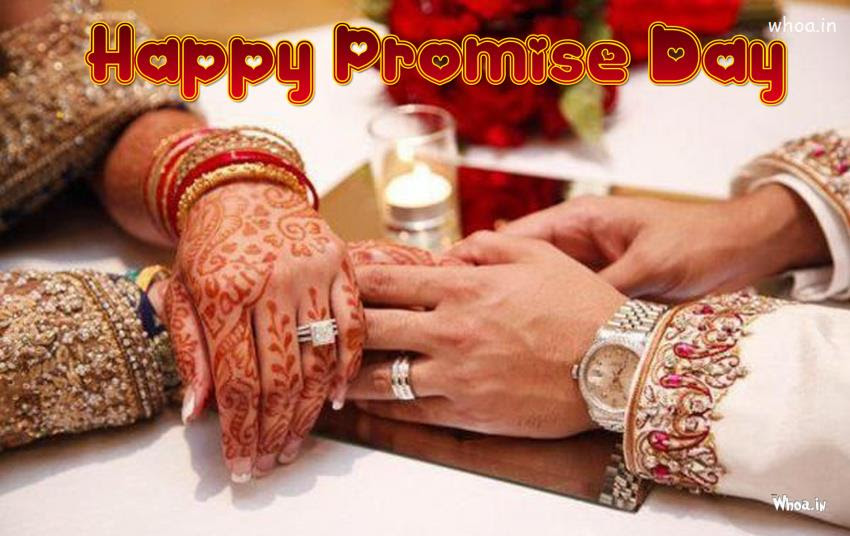 Happy Promise Day Married Couple Hand Hd Wallpaper