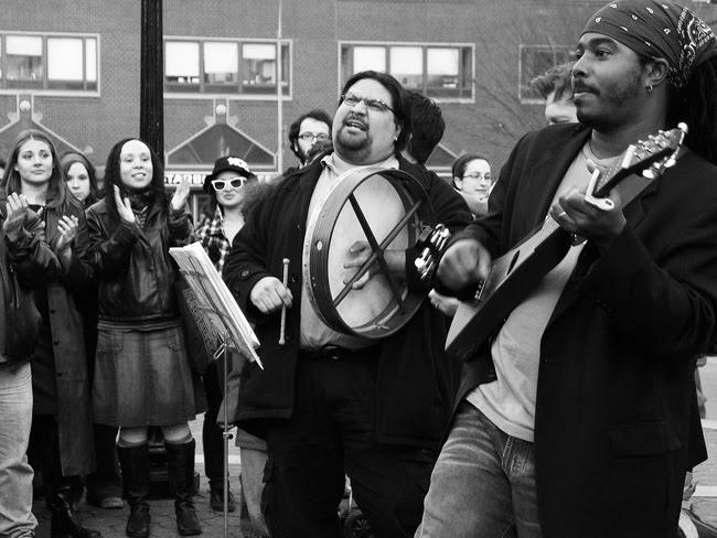 Singing in Union Square