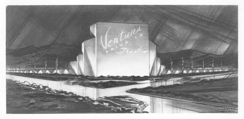 Drive-in theatre, Ventura, California concept design plan