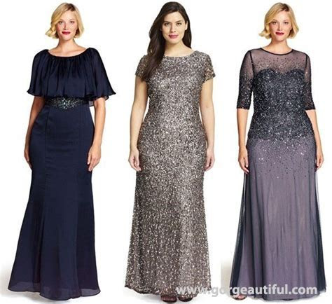 Plus Size Fall Winter Wedding Guest Dresses by Adrianna