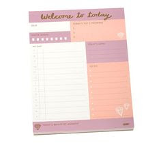 Stay organised day in and out with this stylish Daily Notes Pad ...