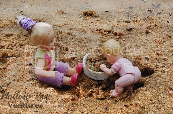 As The Dollhouse Turns - eating sand