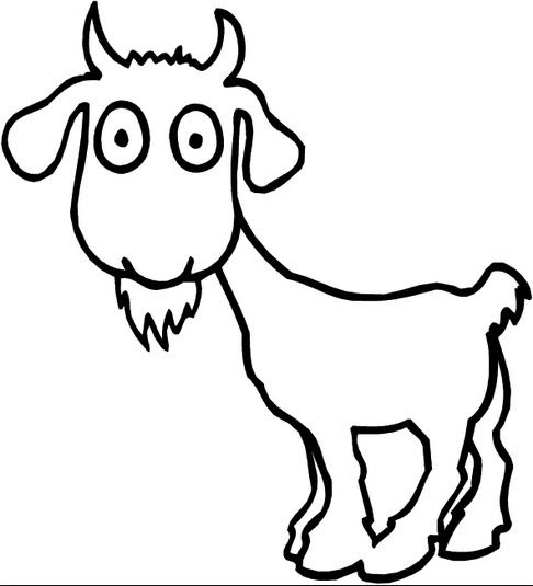cartoon goat coloring page