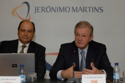 Luís Palha da SIlva e Alexandre Soares dos Santos, presidente da Jerónimo Martins
