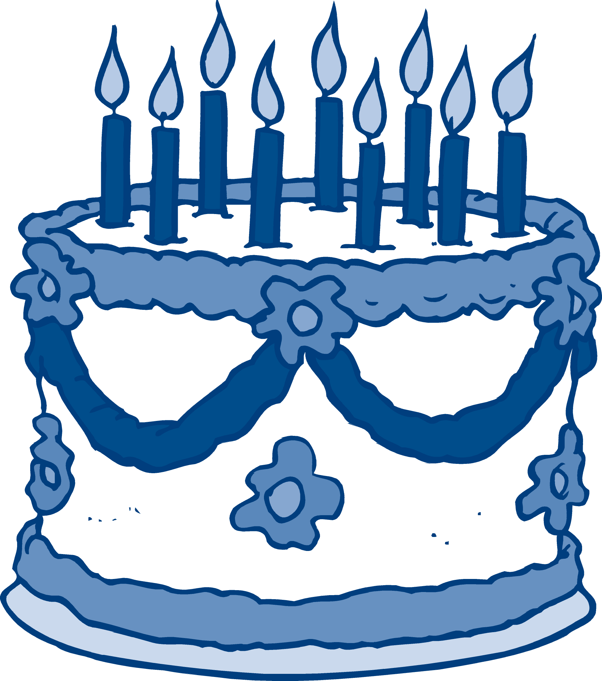 Clip Cake Birthday Large Art