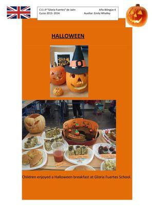Halloween. Actividades del proyecto bilingüe.