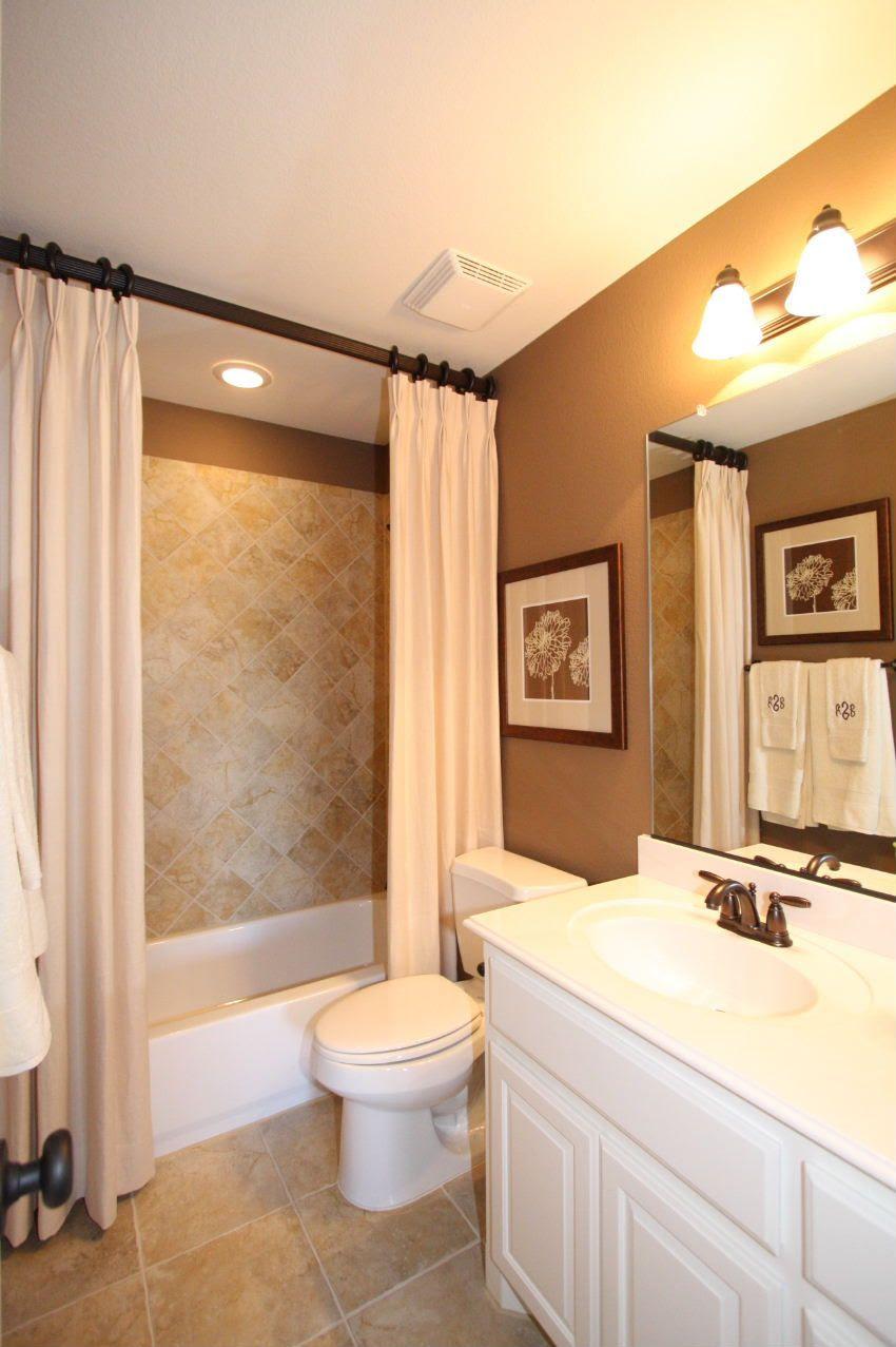 Like the shower curtain idea | house ideas... | Pinterest