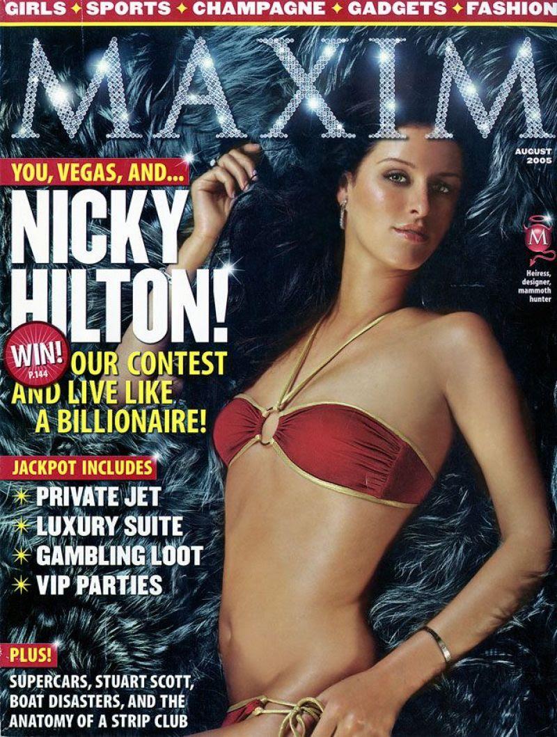 NICKY HILTON in Maxim Magazine, August 2005 Issue