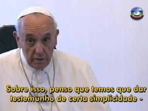 papa simplicidade (Foto: Reprodução/TV Globo)