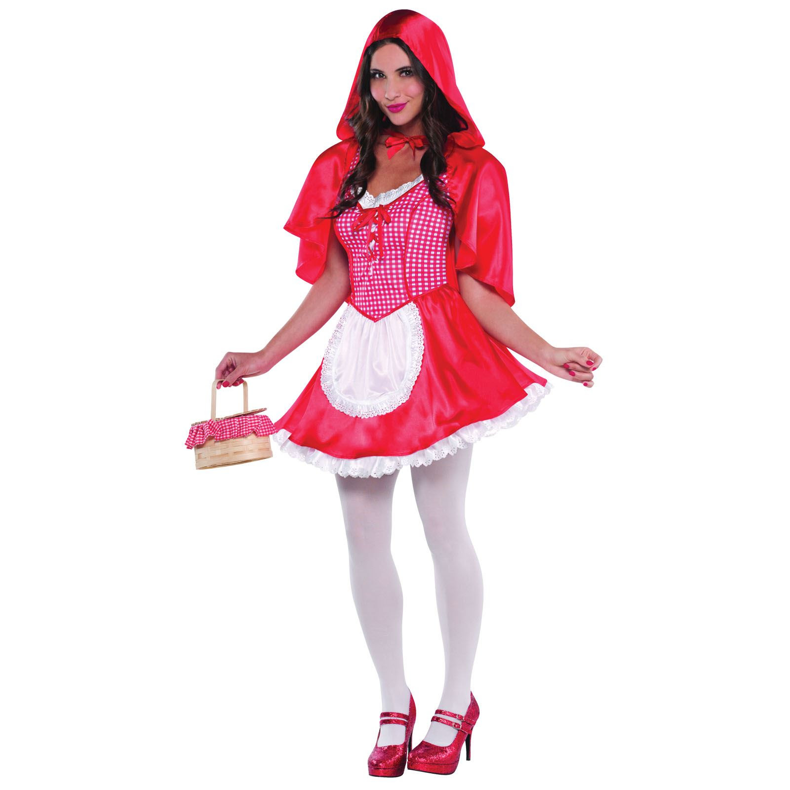 wolf red riding hood ladies fancy dress costume womans