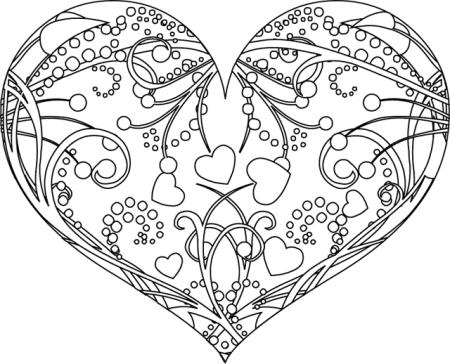 111 Dessins De Coloriage Coeur à Imprimer Sur Laguerchecom Page 1