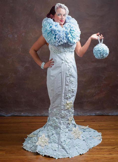 Toilet Paper Wedding Dress Competition   Gorgeous Wedding