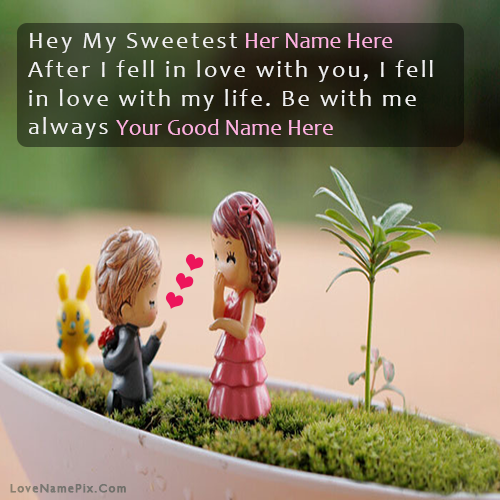 Write Name On Sweetest Boy Propose Picture