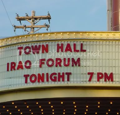 Town Hall Meeting Marquee