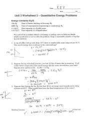 quantitative_heat_problems_answers - Name Date Pd Unit 3