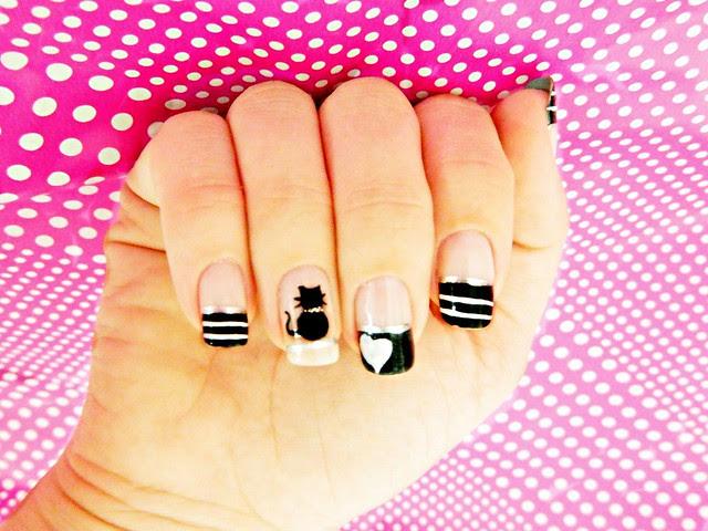 juliana leite unhas gatinho nail art filha unica unhas decoradas 014
