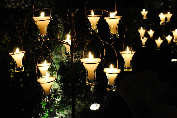 decoracao velas jardim