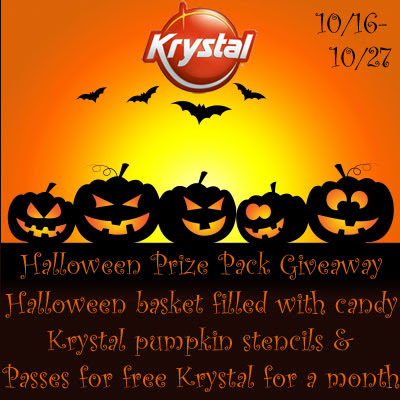 Krystal Halloween Prize Pack Giveaway. Ends 10/27