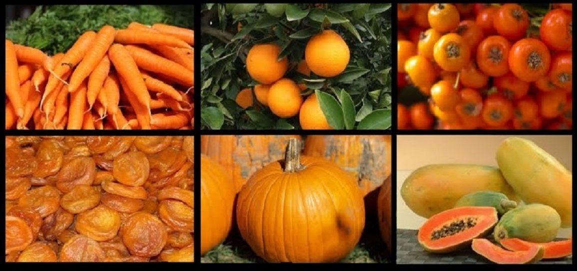 Resultado de imagen para frutas y vegetales de color naranja