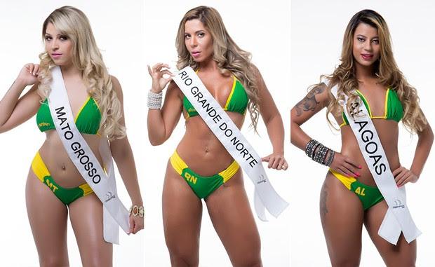 Fernanda Paulino, Miss Bumbum Mato Gross / Cris Moreno, Miss Bumbum Rio Grande do Norte / Milena Ramos, Miss Bumbum Alagoas (Foto: MBB / Divulgação)