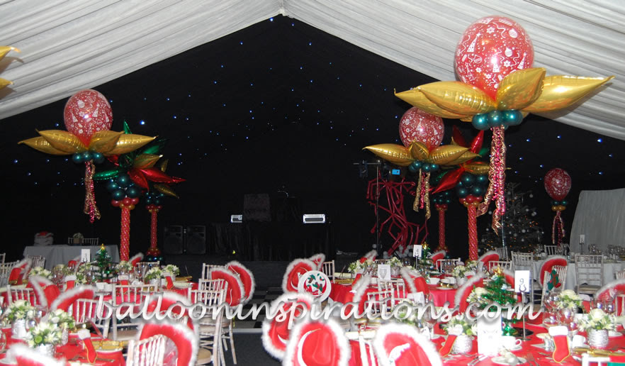 Balloon Christmas party decorations, winter wonderland