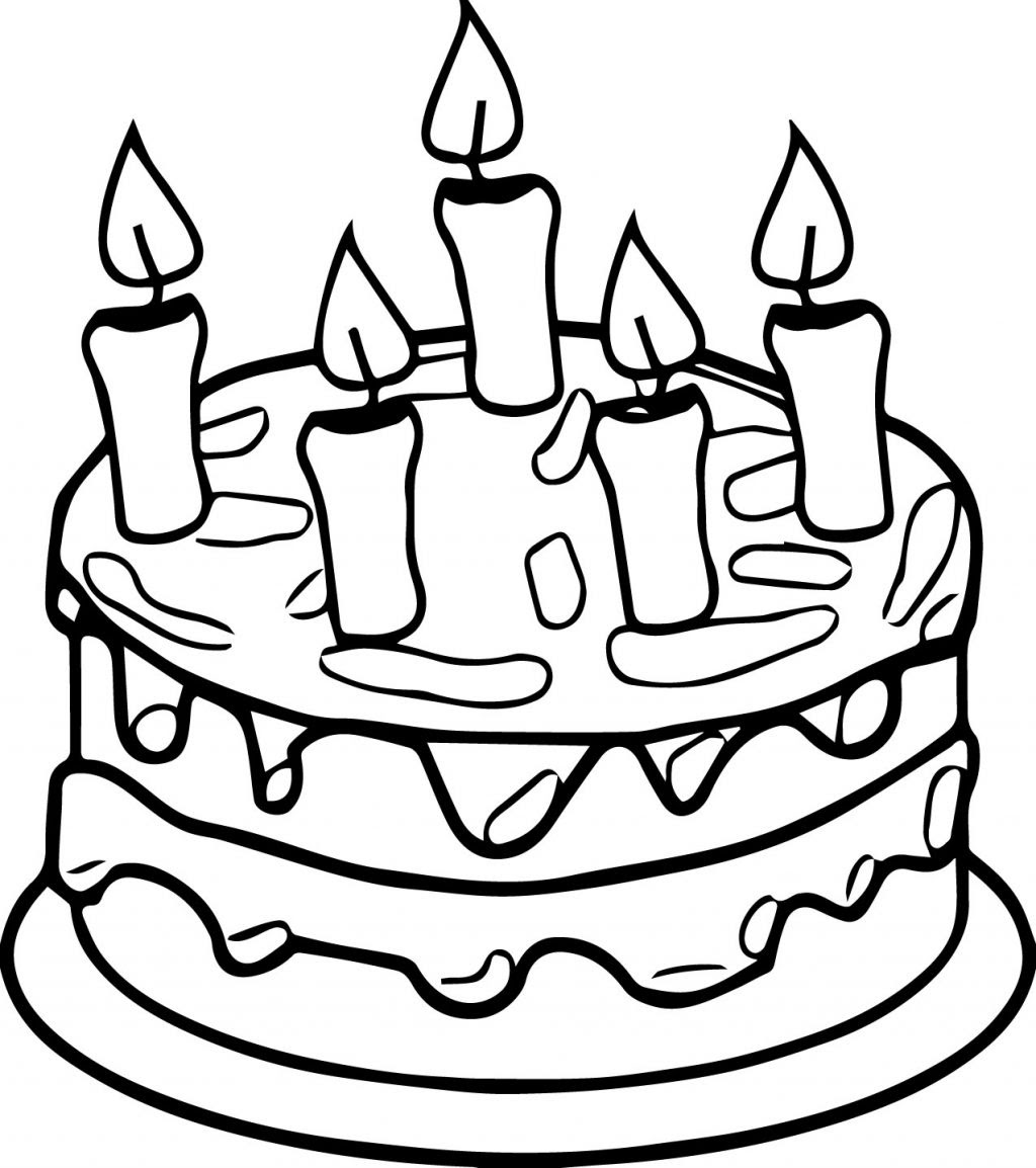 Birthday Cake Coloring Pages Preschool at GetColorings.com ...