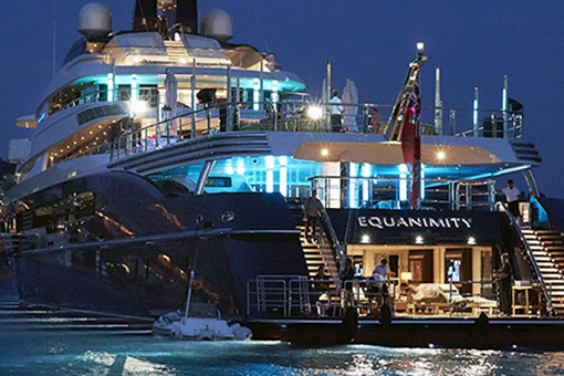 The Equanimity Super Yacht - Rear View