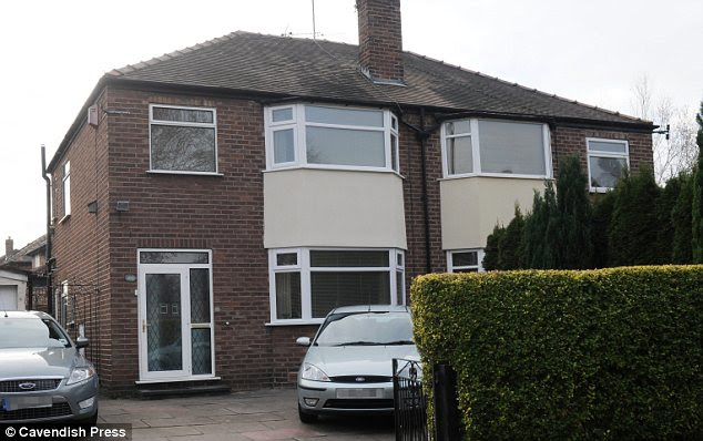 Home: The 27-year-old died in July at her parents' semi-detached house in Sale, Greater Manchester