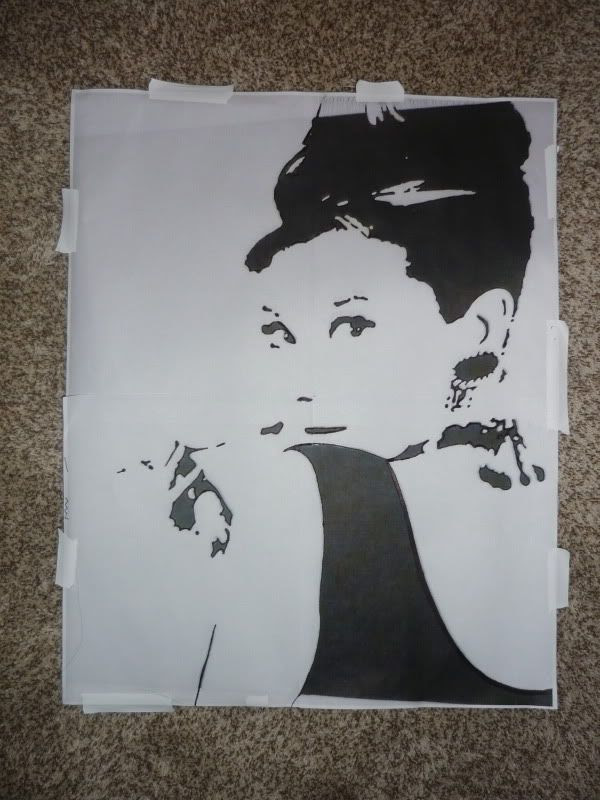 Audrey Hepburn Silhouette Canvas Project