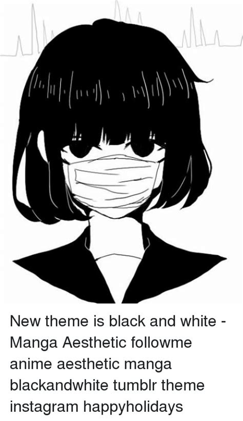 theme  black  white manga aesthetic followme
