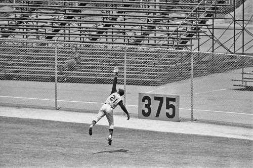 thestrawthatstirsthedrink:<br /><br />Roberto Clemente makes a great catch at Candlestick Park<br />