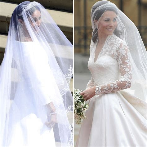 Meghan Markle and Kate Middleton's Wedding Dresses: See a