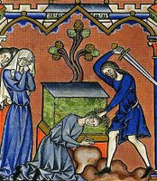 Jephthah's sacrifice - Maciejowski Bible (France, ca. 1250)