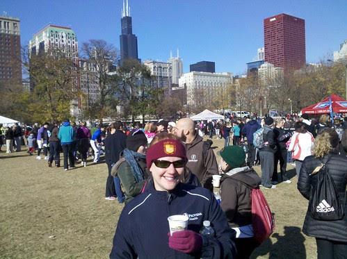 enjoying hot chocolate after the Hot Chocolate 15K