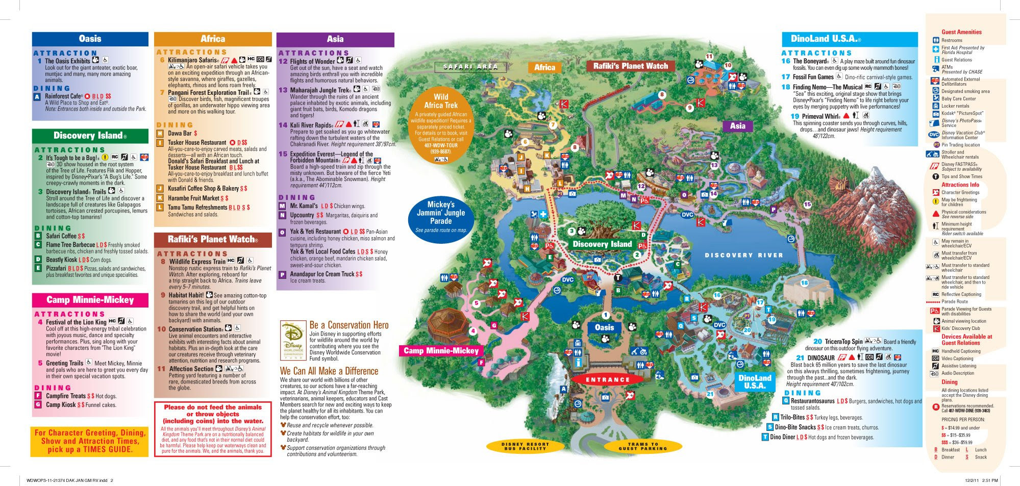 Disney's Animal Kingdom map Theme Park map