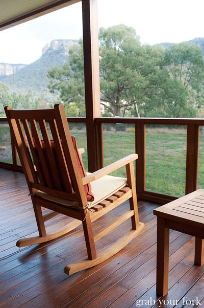 wolgan valley rocking chairs on back porch