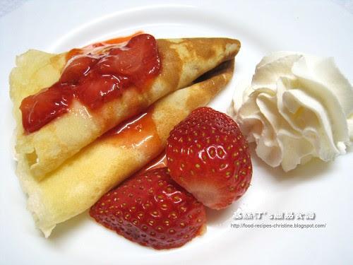 法式草莓班戟 Strawberry crepes